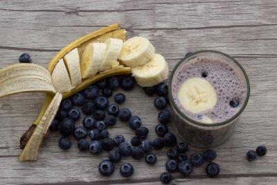 Fotomural vitamina de banana Blueberry