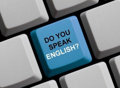 Fotomural Você fala Inglês? Sprechen Sie Englisch?