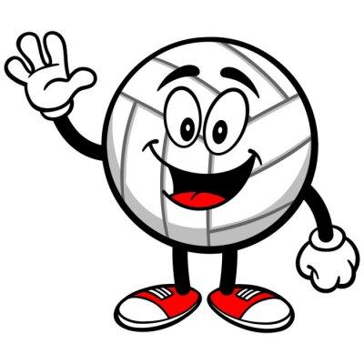 Fotomural Voleibol Mascote ondulação