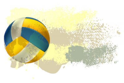 Fotomural Volleyball Banner All elements are in separate layers and grouped.