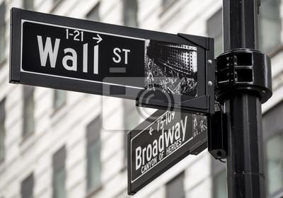 Fotomural Wall Street assina dentro New York City, EUA.