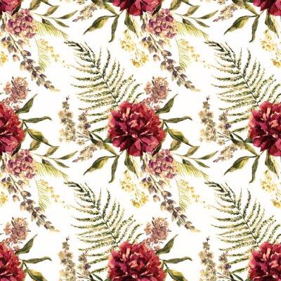 Fotomural Watercolor padrão floral