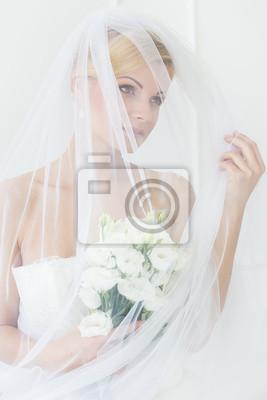 Fotomural Wedding. A noiva bonita