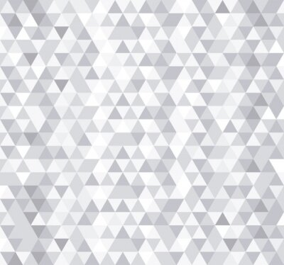 Fotomural White triangle tiles seamless pattern, vector background.