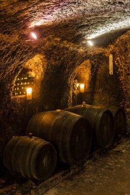 Fotomural wine cellar in Velka Trna, Tokaj wine region, Slovakia