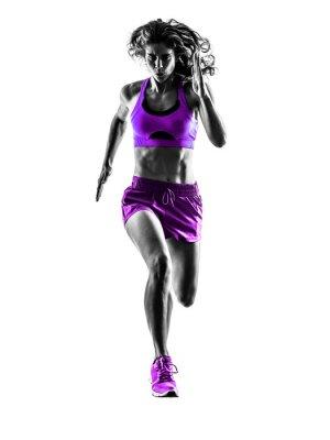 Fotomural woman runner running jogger jogging silhouette