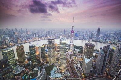 Fotomural Xangai, China Vista Aérea