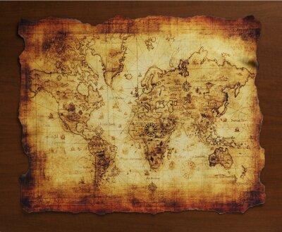 Fotomural 宝 の 地 図 / 古 い 地 図