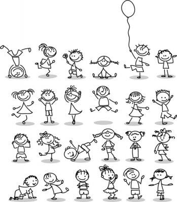 Fotomural Симпатичные счастливых детей мультфильм