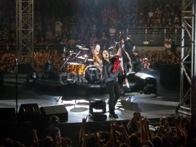 Fotomural Concerto da banda â € € œMetallicaâ, Roma 24 de junho de 2009. A banda.