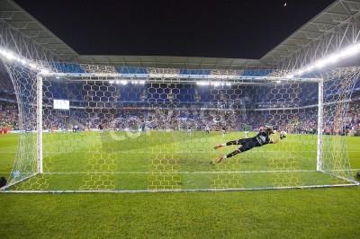 Fotomural Fernando Pacheco de RM na ação na harmonia espanhola do copo entre UE Cornella e Real Madrid, contagem final 1-4, outubro em 29, 2014, em Cornella, Barcelona, Espanha