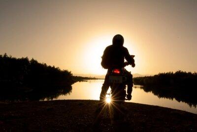 Fotomural motorsiklet ile Doğa turu