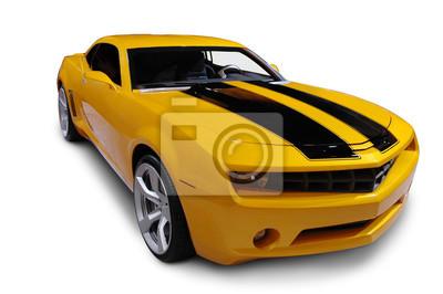 Fotomural Yellow American Sports Car