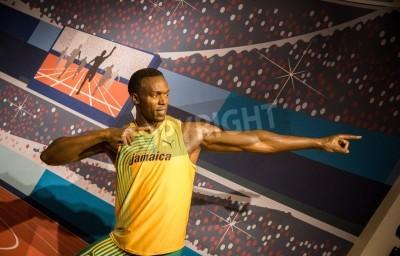 Poster A estátua de Usain Bolt no Madame Tussauds em Londres, 2012
