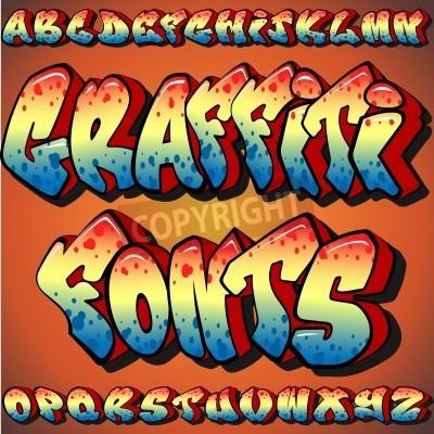 Poster A Full Set of Graffiti Fonts