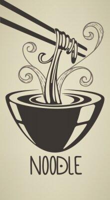 Poster a melhor ilustração noodle
