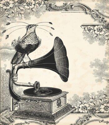 Poster A música pássaro