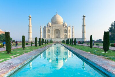 Poster A opinião da manhã de Taj Mahal monumento