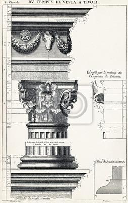 Poster A partir do templo de Vesta, em Tivoli