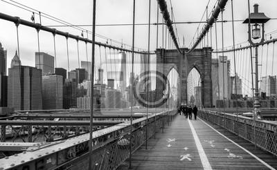 Poster A ponte de Brooklyn em New York City, EUA.