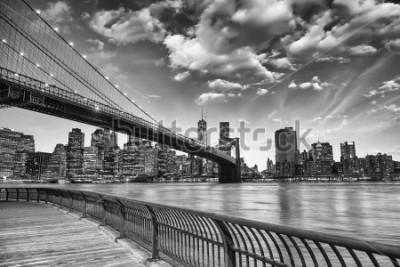 Poster A ponte de Brooklyn, em Nova York.