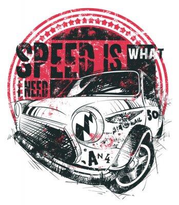 Poster A velocidade é o que eu preciso