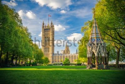 Poster Abadia de Westminster visto de jardins da torre de Victoria, Londres, Reino Unido