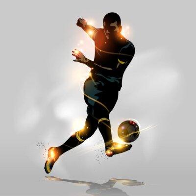 Poster Abstract soccer tiro rápido