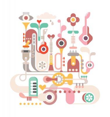 Poster Abstrato da música
