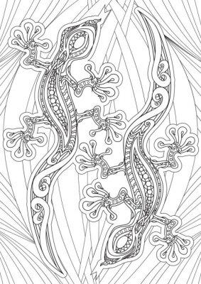 Poster Adulto Colorir livro - ilustração. Ilustração do vetor.