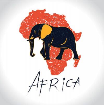 Poster África e Safari com o logotipo do elefante 2