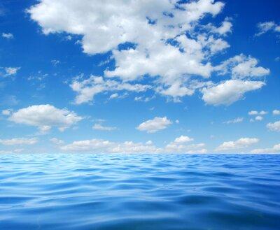 Poster Água do mar azul