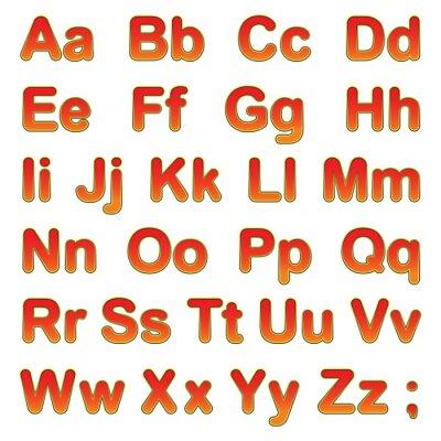 Poster Alfabeto, letras, pretas, fundo
