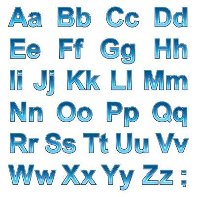 Poster Alphabet pseudo 3d letras