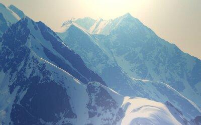 Poster Alto Cáucaso montanhas