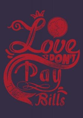 Poster Amor não pagar as contas