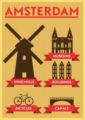Poster Amsterdam City Tipografia Projeto