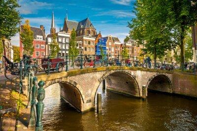 Poster Amsterdam paisagem urbana