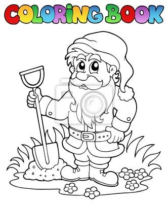 Anao De Jardim Livro Para Colorir Desenho Animado Cartazes Para A