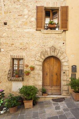 Poster Antiga cidade de Montepulciano na Toscana