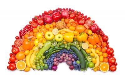 Poster arco-íris de frutas e vegetais