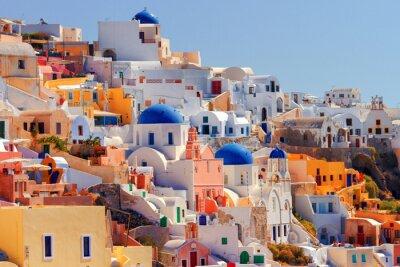 Poster Arquitectura da cidade de Oia, Santorini