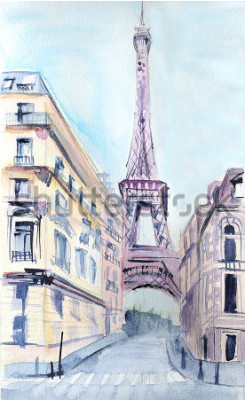 Poster Arquitetura de Paris. Torre Eiffel