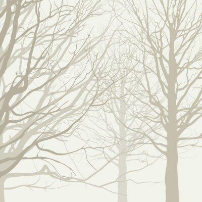 Poster Árvores fundo
