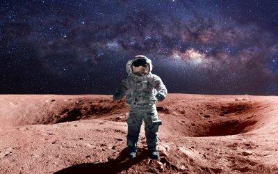 Poster Astronauta bravo no spacewalk no estraga. Esta imagem elementos fornecidos pela NASA.