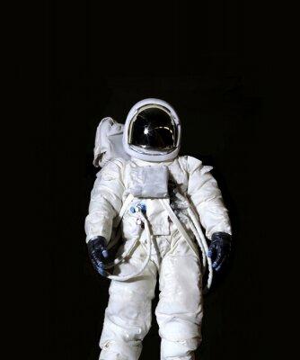 Poster Astronauta, contra, pretas, fundo