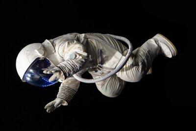 Poster astronauta em fundo preto