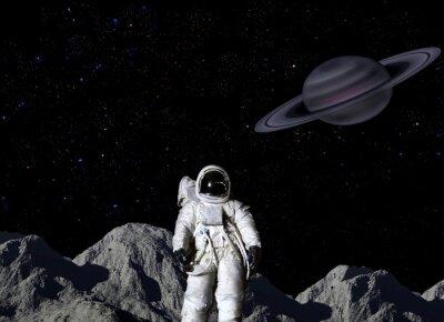 Poster Astronauta, lunar, superfície