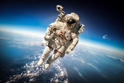 Poster Astronauta no espaço sideral