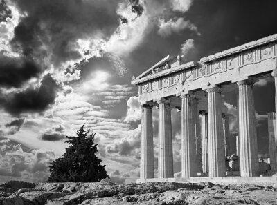 Poster Atenas - A Acrópole e cloudscape bonito